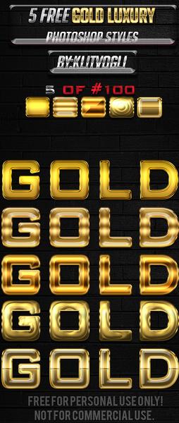 5 free gold luxury styles