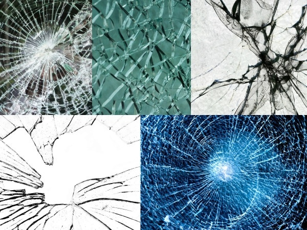 5 glass cracks in highdefinition picture