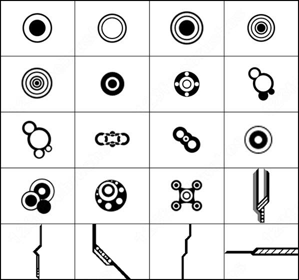 Punk Symbols Photoshop Brushes Download 33 Photoshop Brushes For