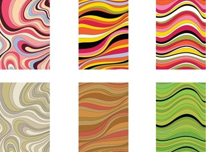 abstract colorful background sets curves decoration