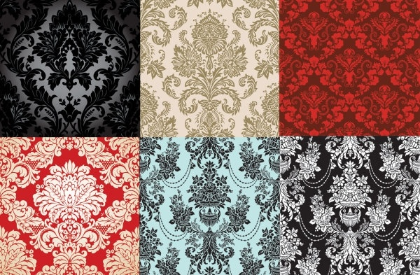 6 shades of fashion pattern vector