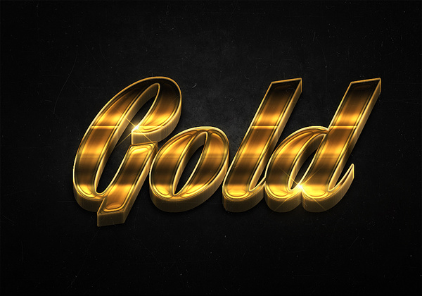 70 3d shiny gold text effects preview