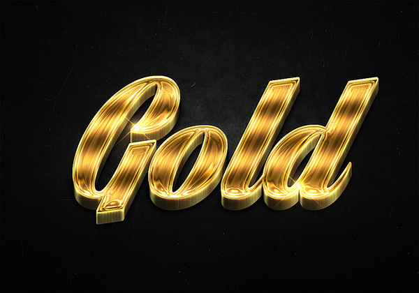 71 3d shiny gold text effects preview