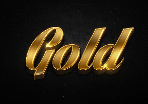 72 3d shiny gold text effects preview