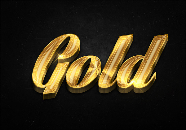 79 3d shiny gold text effects preview