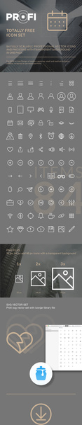84 fully scalable professional vector icons for any modern web or app