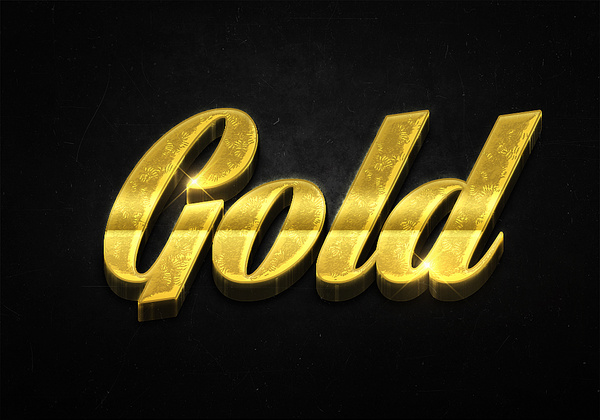 92 3d shiny gold text effects preview