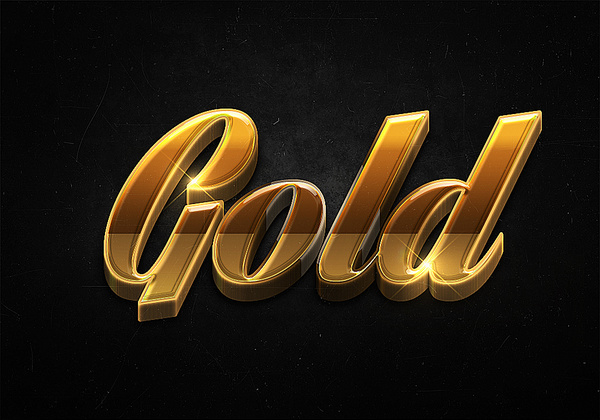 98 3d shiny gold text effects preview