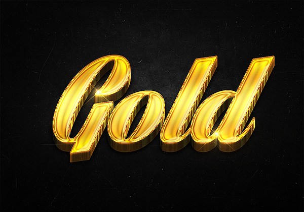 99 3d shiny gold text effects preview
