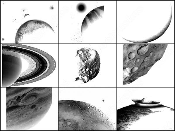 9 large planet brush