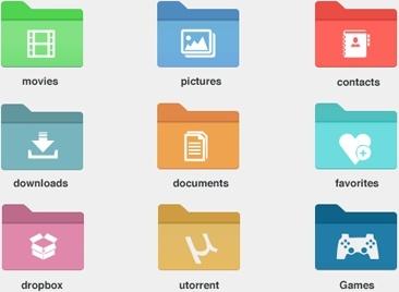 9 Windows 8 Style Folder Icons