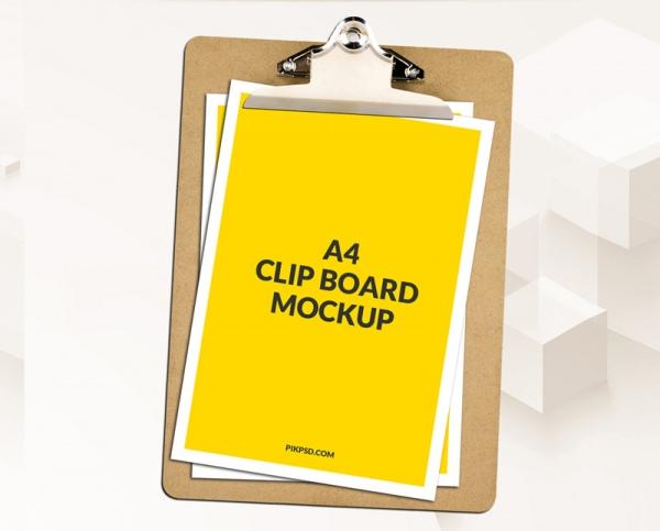 a4 clipboard mockup psd