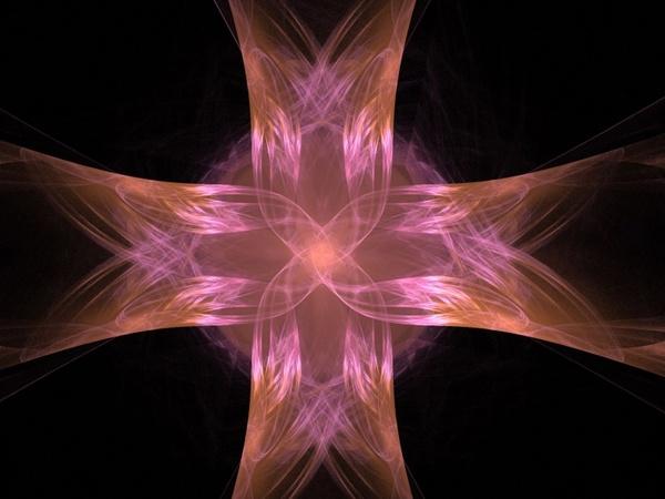 a colourful cross