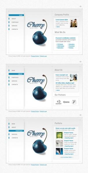 a concise web design psd layered