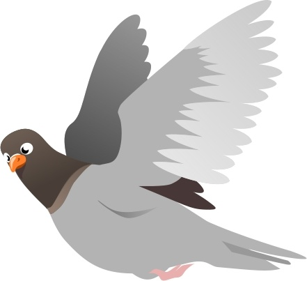 A Flying Pigeon Free Vector In Open Office Drawing Svg Svg