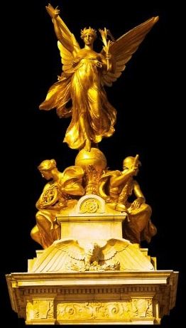 a gorgeous western gold sculpture