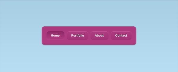 A Pink Vibrant Navigation Interface