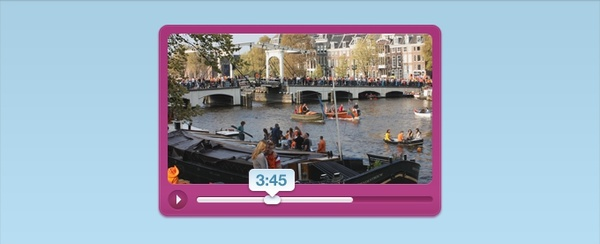 A Pink Vibrant Video Player Interface