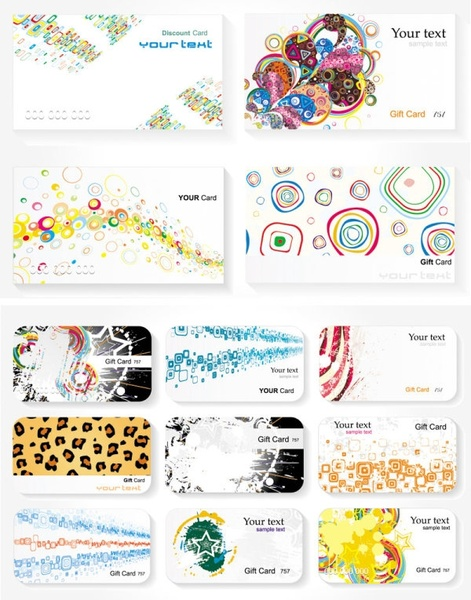 a trend card template vector