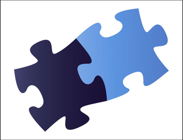 A Two Piece Jigsaw Free Vector 22621KB