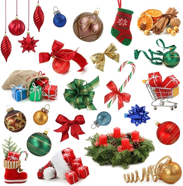 Christmas Items.A Variety Of Christmas Items Definition Picture Free Stock