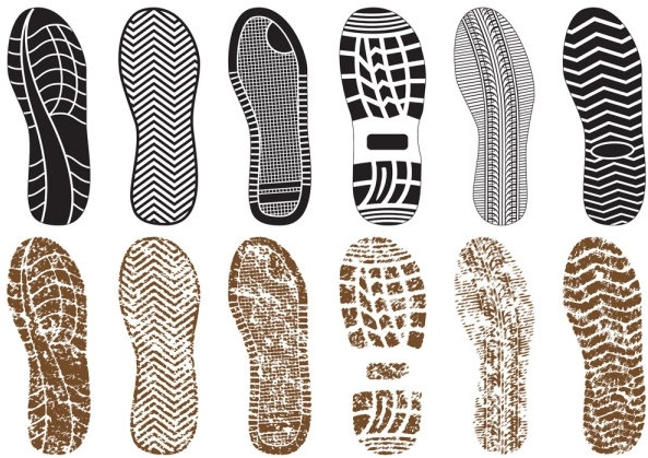 3c4d0db56d99 A variety of fine shoe print 03 vector Free vector in Encapsulated ...