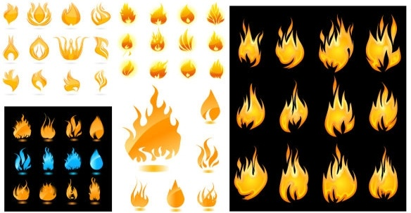 a wide range of flame vector