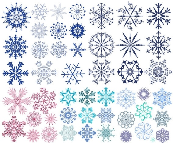 a wide range of snow graphics vector