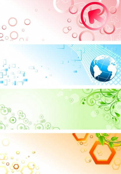 Abstract and colourful banners