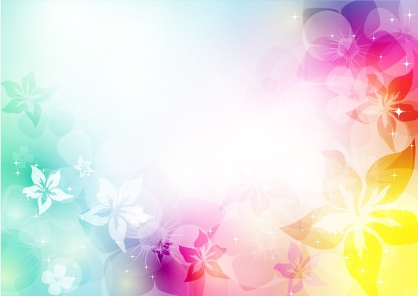 Abstract Artistic Background With Flower In Colorful