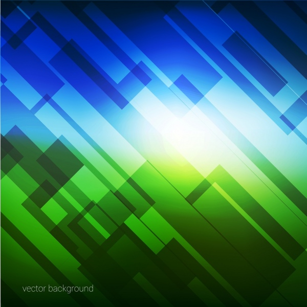 Abstract Background Blue Green Dazzling Ornament Free Vector