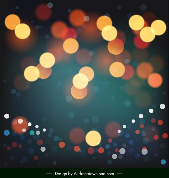 abstract background bokeh blurred lights decor