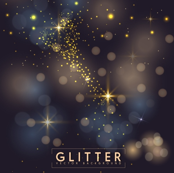 abstract background bokeh glittering light decoration