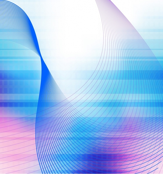 abstract background colored curved lines decoration