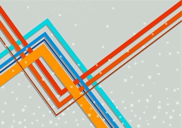 abstract background colorful flat lines decoration