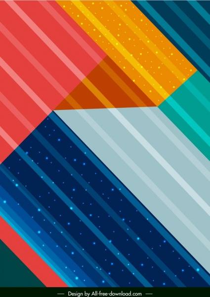abstract background colorful flat stripes decor