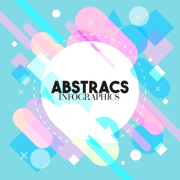 abstract background colorful geometric flat design