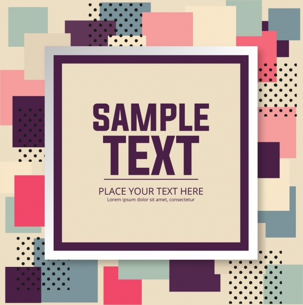 abstract background colorful squares isolation