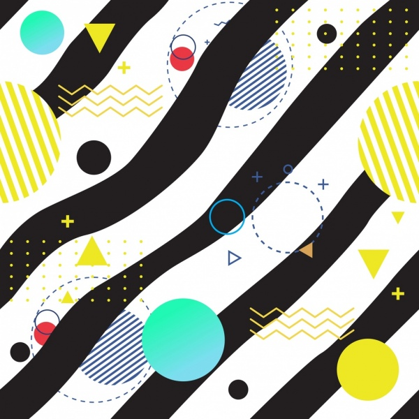 abstract background curves circles pattern