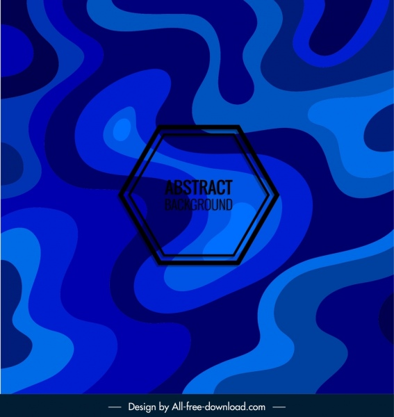 abstract background dark blue deformed shapes ornament