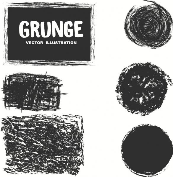abstract background design elements black grunge shapes