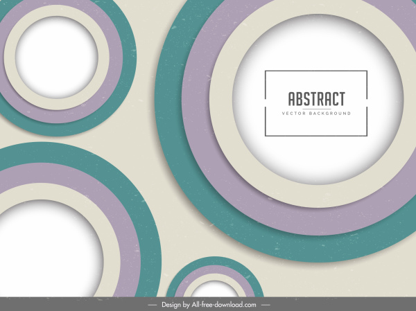 abstract background flat colorful circles decor