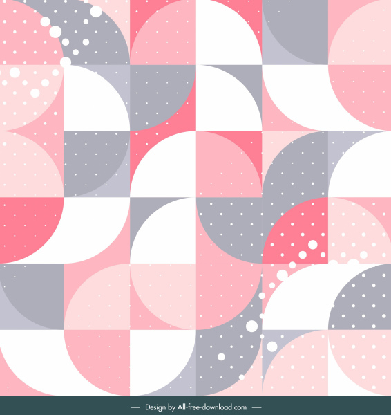 abstract background flat colorful geometric circles squares decor