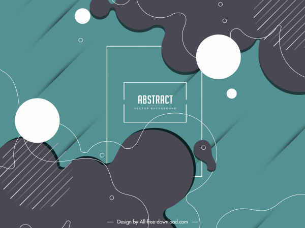 abstract background flat geometric deformed shapes sketch