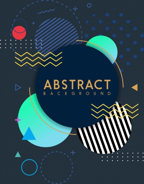 abstract background geometric circles triangles sketch