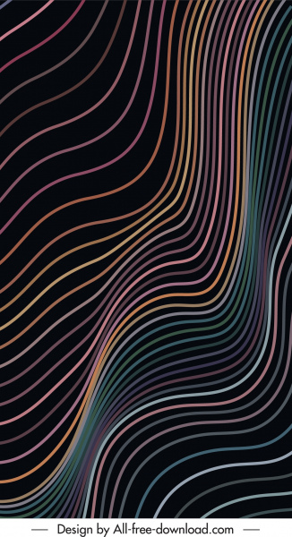 abstract background modern delusive dynamic curved lines