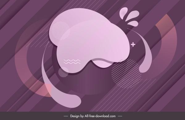 abstract background modern flat purple decor