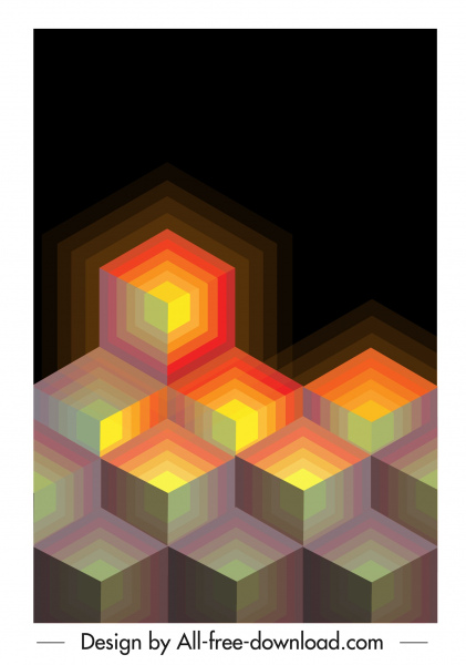 abstract background polygonal light effect delusion decor