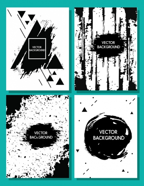 abstract background sets black decor grunge design