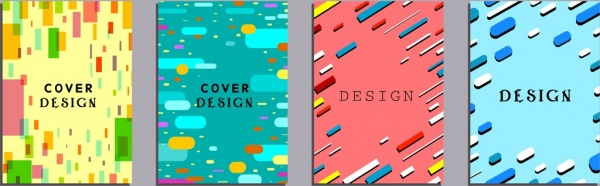 abstract background sets colorful geometric decor
